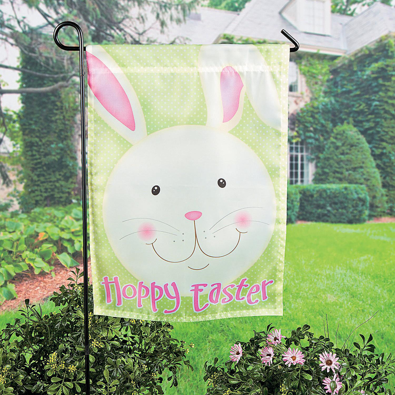 Mini Easter Garden Flag Party Supplies Outdoor Decor