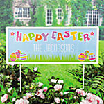 "Personalized ""Happy Easter"" Yard Sign"