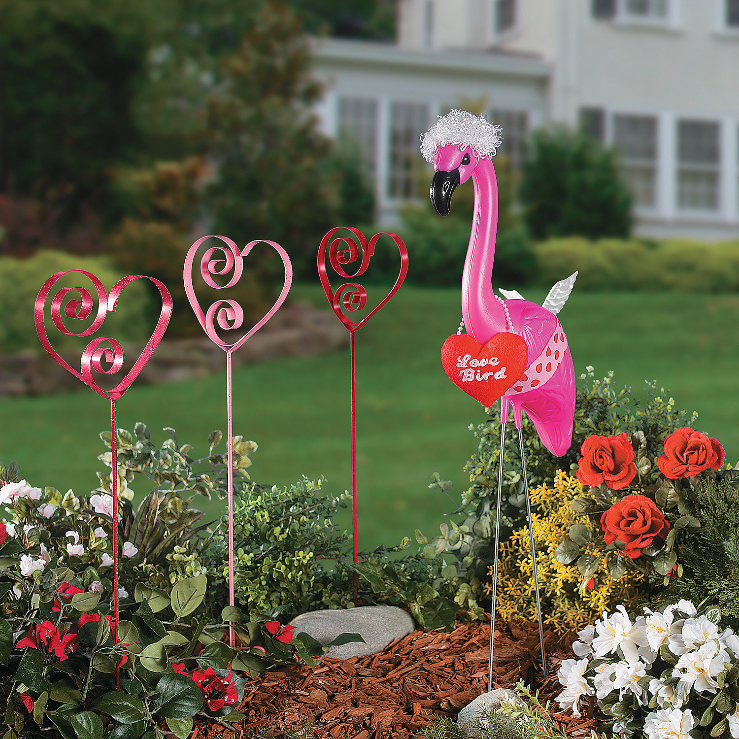 Flamingo Valentine Outfit Party Supplies Outdoor Decor