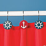 Resin Nautical Shower Curtain Hooks