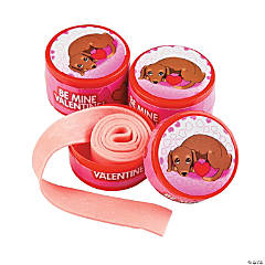 Valentine Dog Roll Tape Gum