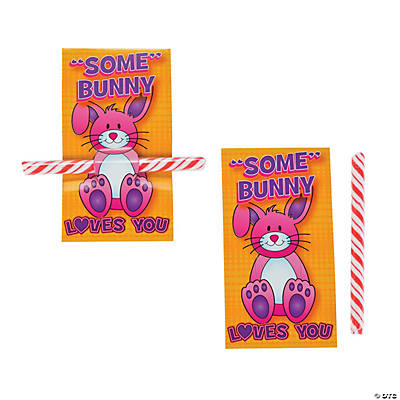 """Some"" Bunny Loves You Candy Stick with Card"