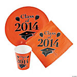 Class of 2014 Orange Graduation Tableware