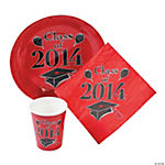 Class of 2014 Red Graduation Tableware