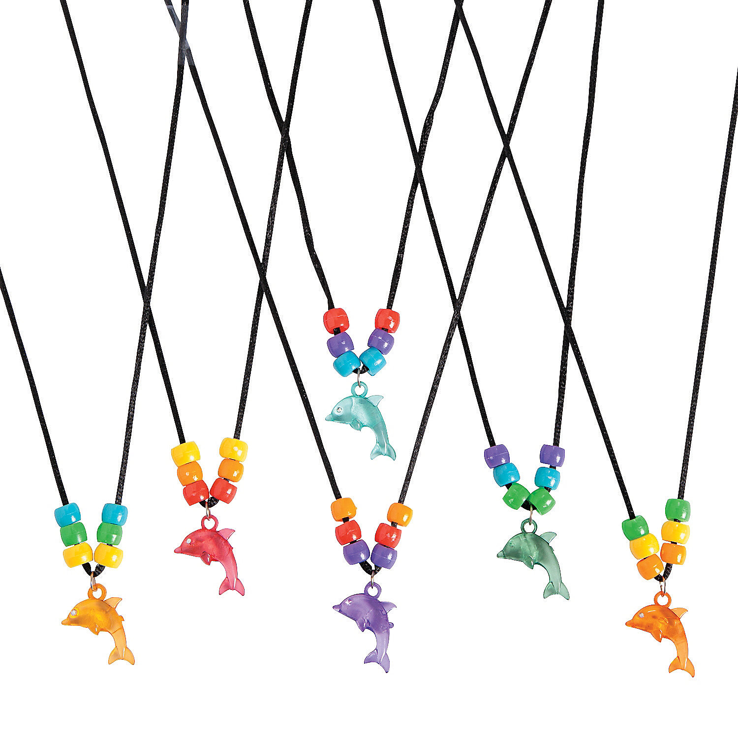 Beaded dolphin necklace craft kit jewelry crafts crafts for Necklace crafts for kids