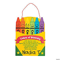 Diversity Crayon Box Sign Craft Kit