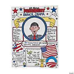 Color Your Own All About the Presidents Posters
