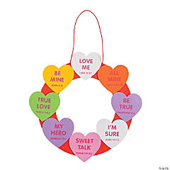Conversation Heart Faith Wreath Craft Kit