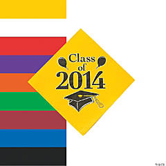 """Class Of 2014"" Beverage Napkins"