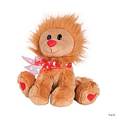 Plush Valentine Lion with Bow