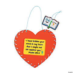 Psalm 119:11 Lacing Heart Craft Kit