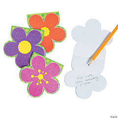 Bright Glitter Flower Notepads