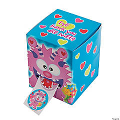 Paper Valentine Monster Box of Stickers