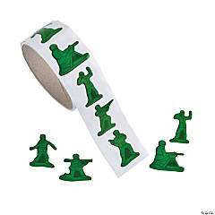 Army Men Roll of Stickers