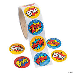 Superhero Roll of Stickers