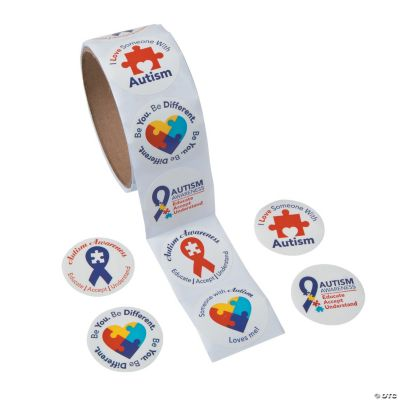 Autism Awareness Roll of Stickers