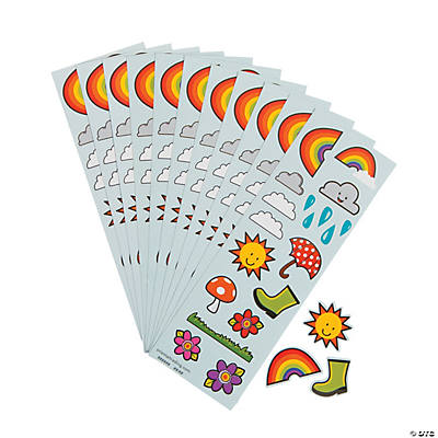 Rainbows & Sunshine Sticker Sheets