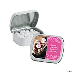 Hot Pink Custom Photo Mint Tins