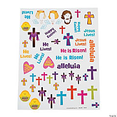 Religious Egg Decorating Stickers