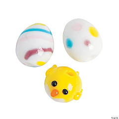 Baby Chick & Easter Egg Lampwork Beads