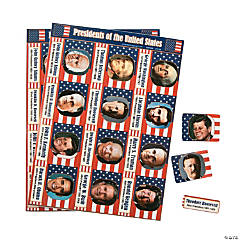 Paper President Sticker Sheets