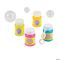 """Jesus Is the Reason"" Mini Bubble Bottles"