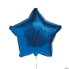 Prismatic Blue Star Mylar Balloon