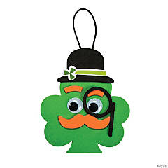 Foam Shamrock with Mustache Ornament Craft Kit