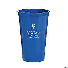 Personalized Blue 2014 Prom Night Tumblers