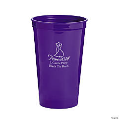 Personalized Purple 2014 Prom Night Tumblers