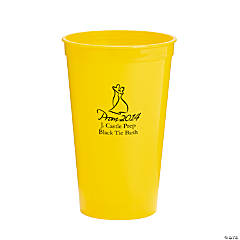 Personalized Yellow 2014 Prom Night Tumblers