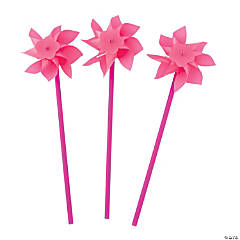 Hot Pink Pinwheels