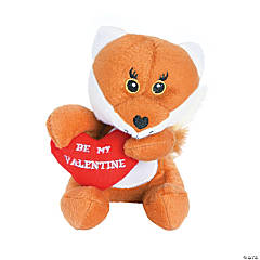 Plush Valentine Foxes with Heart
