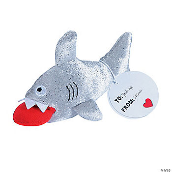 Valentine stuffed sharks for Life size shark plush