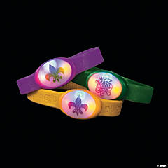 Rubber Mardi Gras Flashing Bracelets