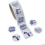 Purple Ribbon Relay Roll of Stickers