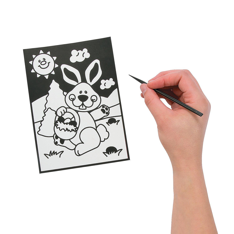 Easter Magic Scratch Coloring Page, Magic Scratch, Crafts ... - photo#34