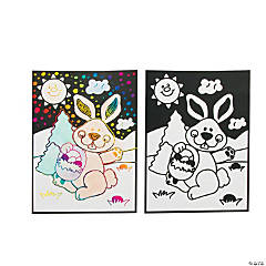 Easter Magic Scratch Coloring Page