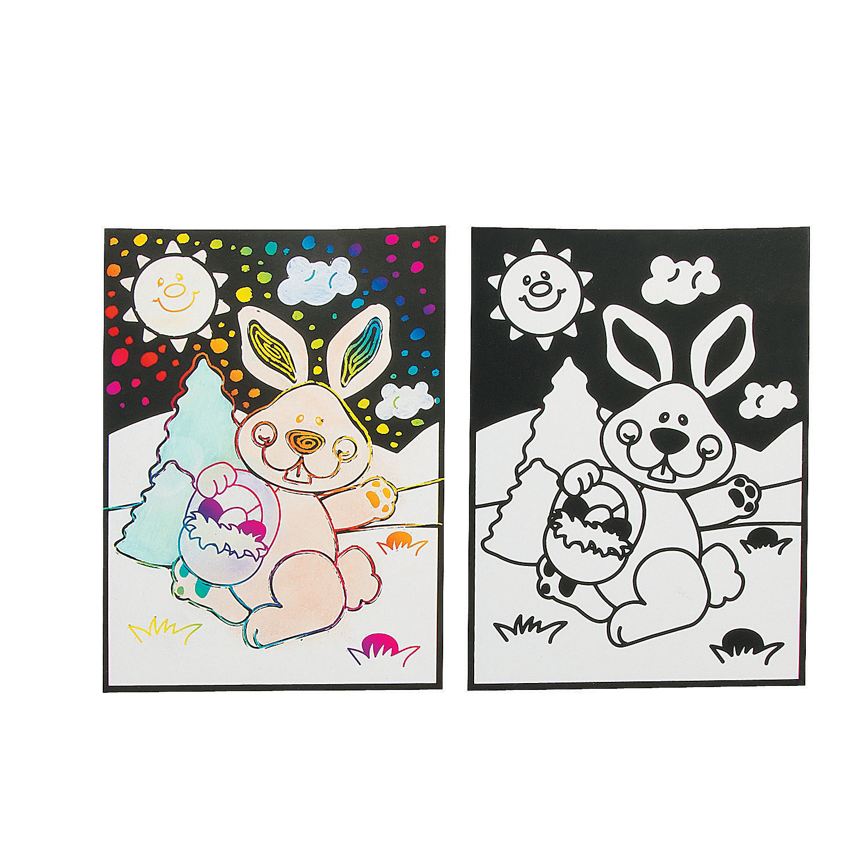 Easter Magic Scratch Coloring Page, Magic Scratch, Crafts ... - photo#27