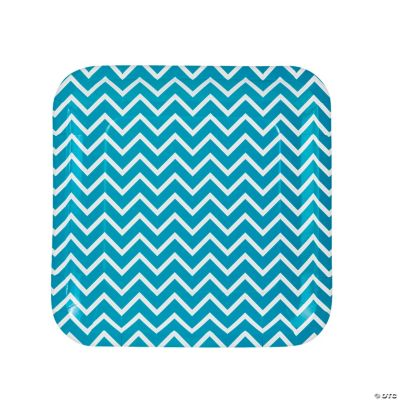 This review is fromTurquoise Chevron Paper Dinner Plates.  sc 1 st  Oriental Trading & Chevron Paper Dinner Plates