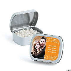 Orange Custom Photo Mint Tins