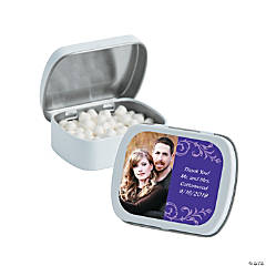 Purple Custom Photo Mint Tins