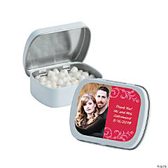 Red Custom Photo Mint Tins