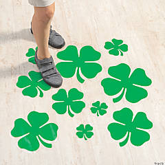 Shamrock Floor Cling
