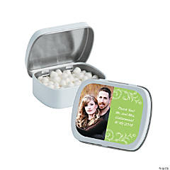 Lime Green Custom Photo Mint Tins