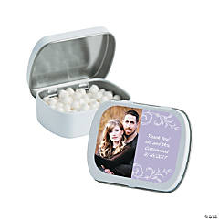 Lavender Custom Photo Mint Tins