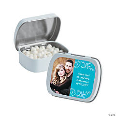 Turquoise Custom Photo Mint Tins