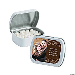 Brown Custom Photo Mint Tins