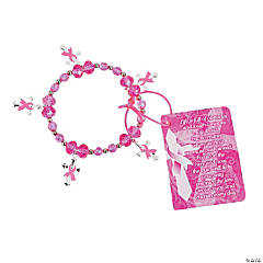Breast Cancer Inspirational Bracelet Craft Kit