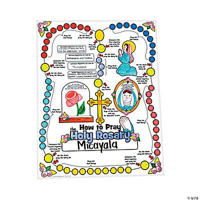 "Color Your Own ""All About the Rosary"" Posters"
